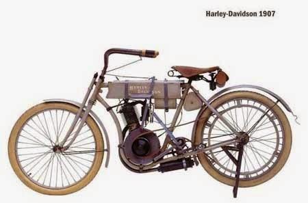 sketsa gambar motor antik