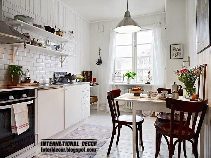 Scandinavian kitchen style and design, simple kitchen