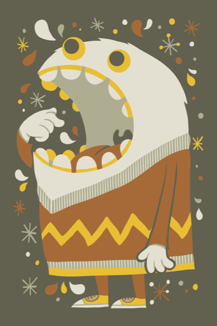 Vector art Hungry from illustrator and designer Greg Abbott