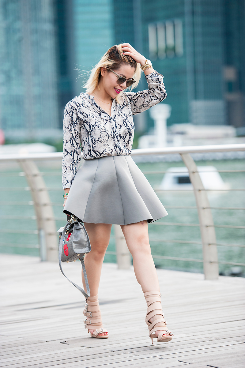 Crystal Phuong- fashion blogger- what to wear with grey?