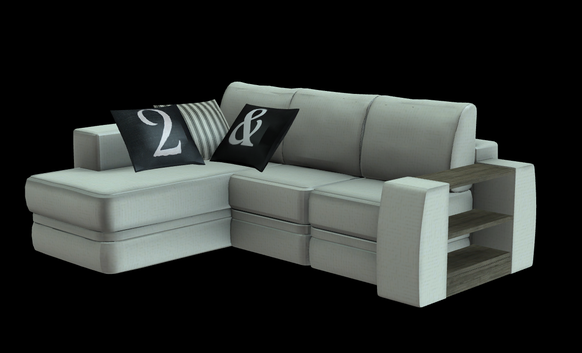 Ortiz sofa sims2 new mesh plus recolors sims 2 for Sectional sofa sims 3