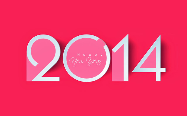 Pink Happy New Year 2014