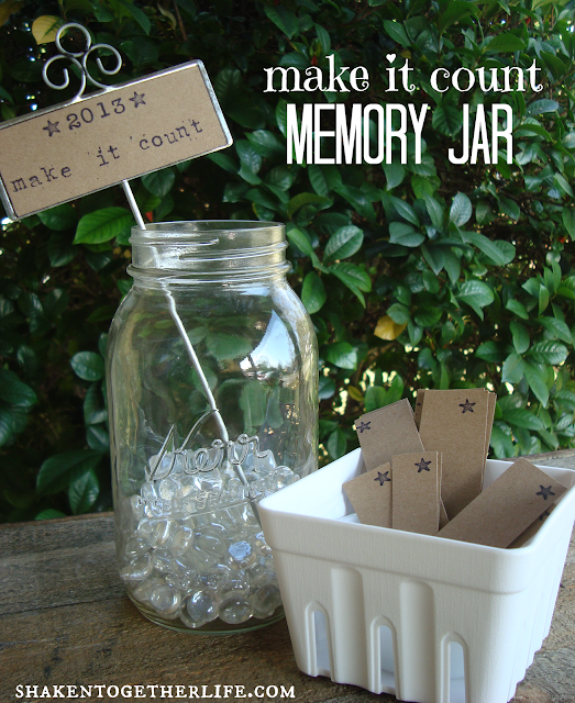easy New Years decor - make it count memory jar