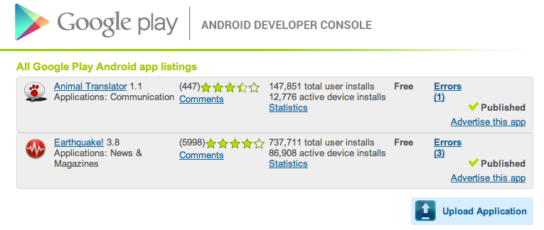 Google Play is starting to show prices paid elements within applications