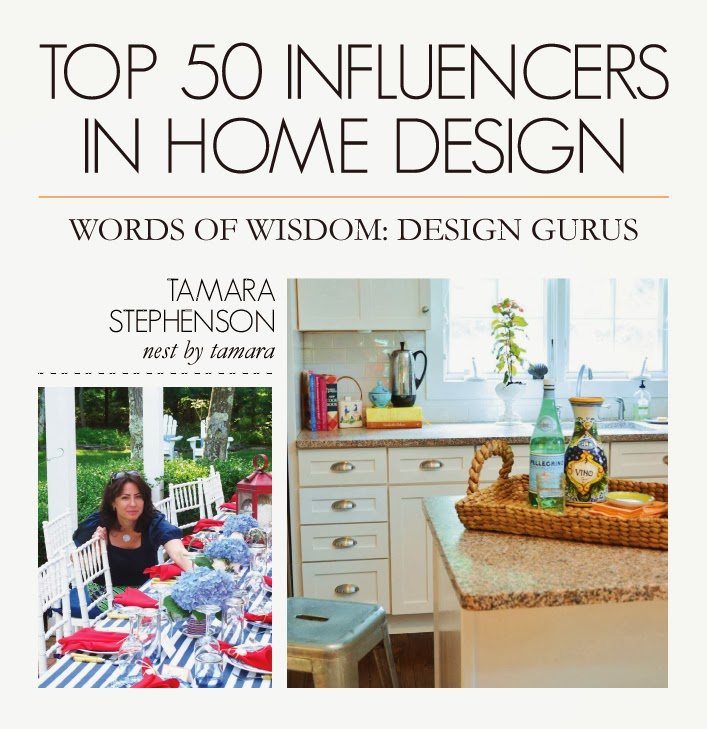 Thanks to Dot & Bo for listing Nest by Tamara in top 50 home influencers!