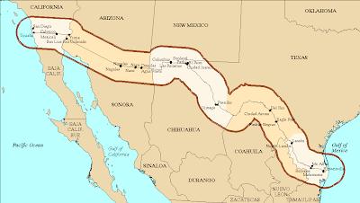U.S. Mexico Border Region - Source: http://www.mchb.hrsa.gov/MCHIRC/dataspeak/events/july_08/materials/notzon_files/textonly/slide4.html