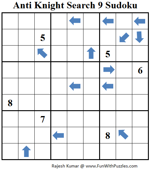 Anti Knight Search 9 Sudoku (Daily Sudoku League #221)