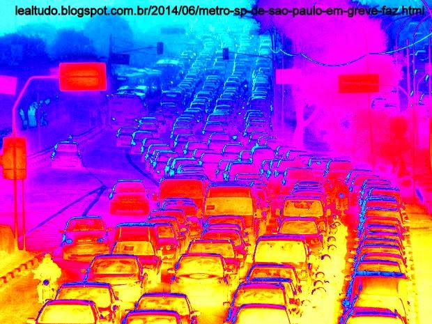 Metro SP de São Paulo em Greve faz Congestionamento no Transito Piorar Ha 1 Semana da Copa da FIFA no Brasil - Lealtudo