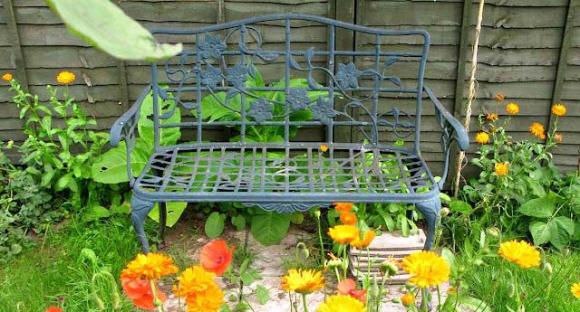 Clematis bench