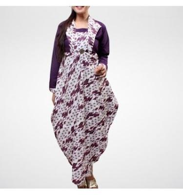 Model gamis Batik Kombinasi Remaja