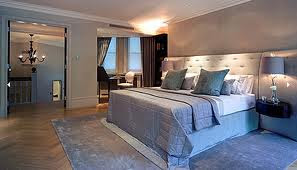 Top most elegant beds and bedrooms in the world grey hotel style contemporary bedroom - The most beautiful bedroom in the world ...