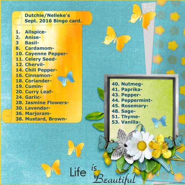 Dutchie-Nelleke's Sept. 2016 Bingo card