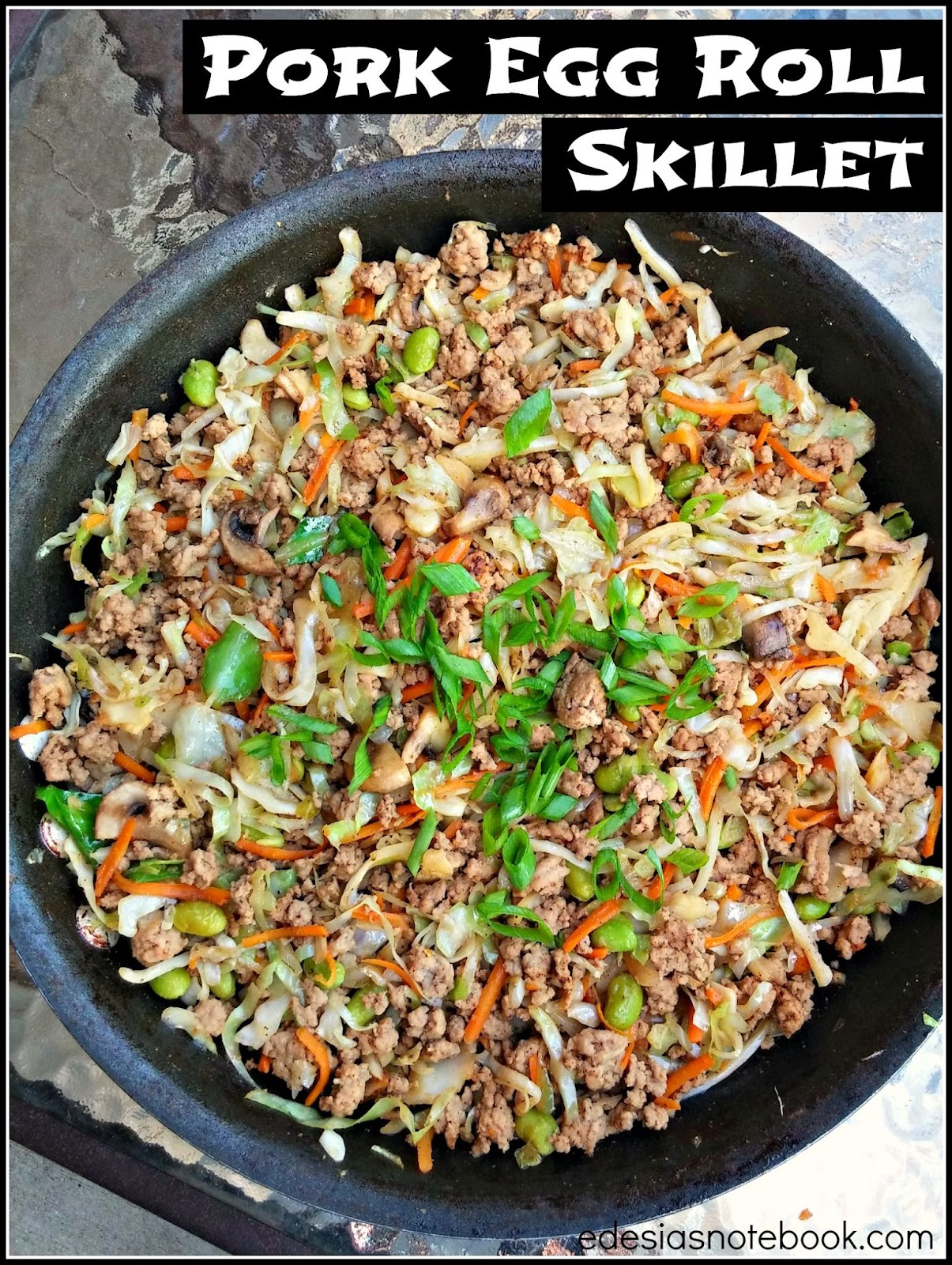 how to cook ground pork in a skillet