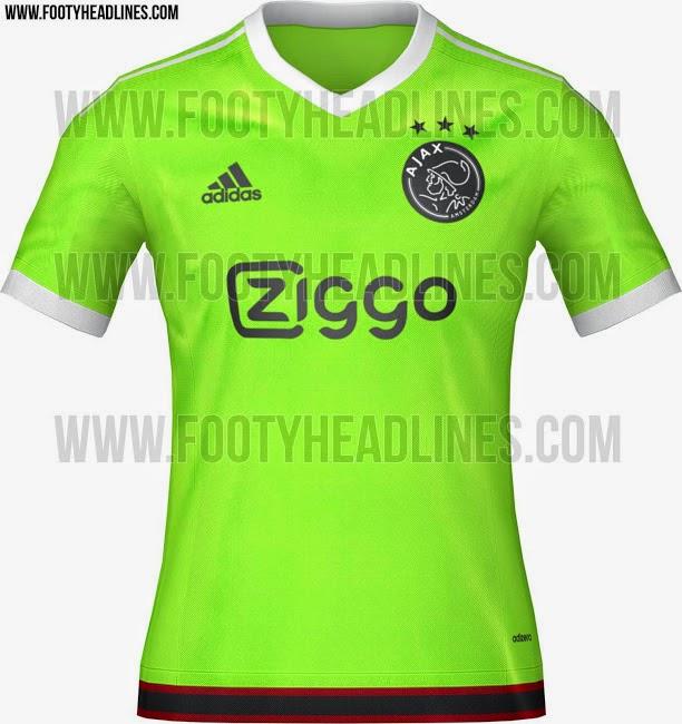 gambar bocoran jersey ajax away warna hijau musim depan 2015/2016