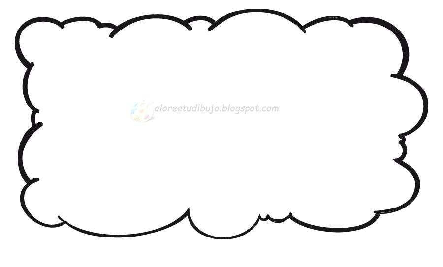 COLOREA TUS DIBUJOS: Marco de Nube para colorear e imprimir