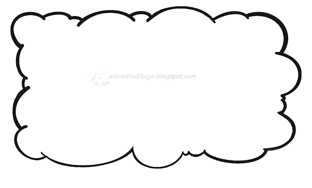 nube para colorear - Maraton.ponderresearch.co