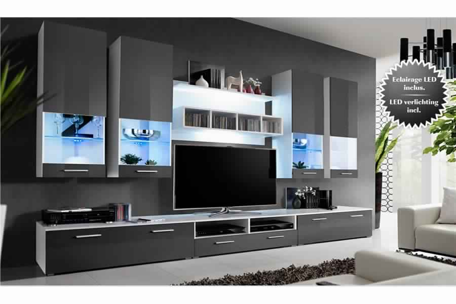 meuble tv bas et long. Black Bedroom Furniture Sets. Home Design Ideas