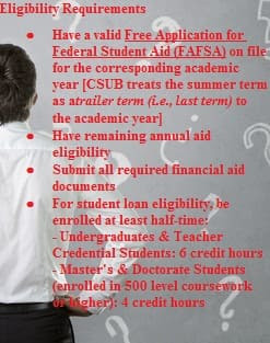 some reasons of declining financial aid CSUB