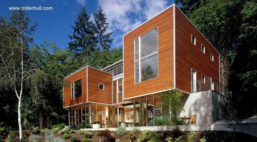 Residencia contemporánea en Lago Washington en el noroeste de Estados Unidos