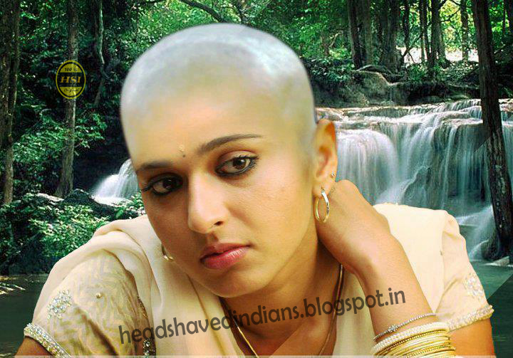 South Indian Actress In Bald Head Shaved Indians
