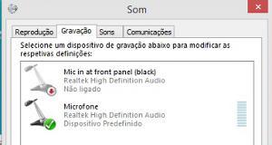 meu microfone não funciona