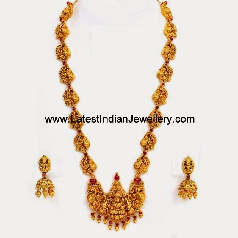 Nakshi Gold Peacock Mala