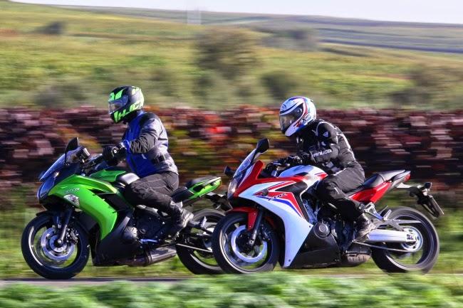 Duel Honda CBR650F vs Kawasaki ER-6F