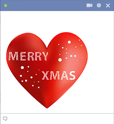Merry Xmas Heart Icon