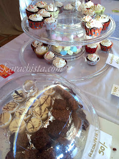 cupcakes at British Women's Association Fair Karachi