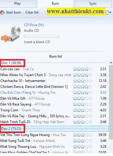 HƯỚNG DẪN GHI ĐĨA CD/DVD BẰNG MÁY NGHE NHAC WMP 12 TRÊN LAPTOP CỦA BẠN