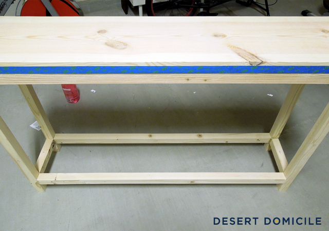 DIY 18 Console Table Desert Domicile