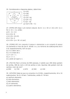 Exercícios de Conjuntos Numéricos
