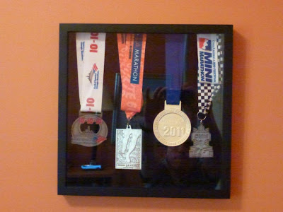 Race Medal Shadow Box Medals in a Shadow Box