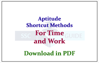 Aptitude Shortcut Methods and Rules for Time and Work Problems