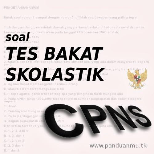 Tes Bakat Skolastik untuk Seleksi CPNS honorer dan umum.