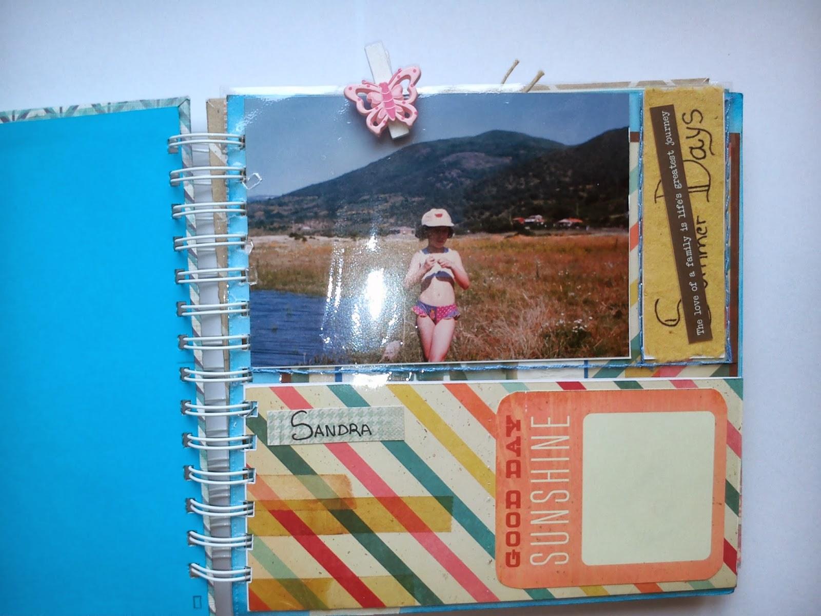 Mis siete palabras lbum del curso de scrapbooking - Hacer un album de fotos casero ...