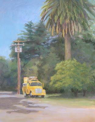"""oil painting, 14x11"""", Linda Schweitzer"""
