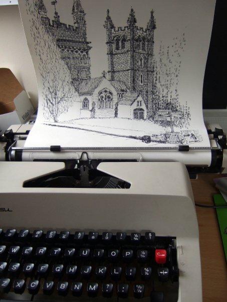 Impresionantes ilustraciones realizadas con una máquina de escribir