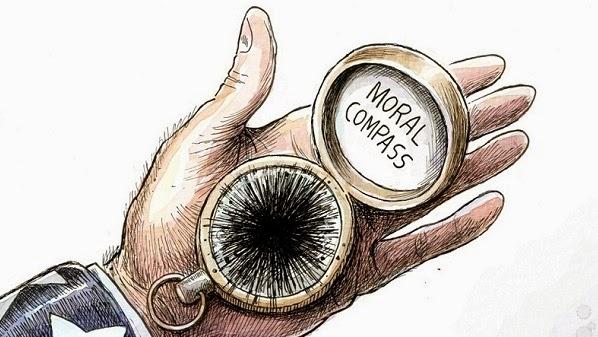 Adam Zyglis: Moral Compass.