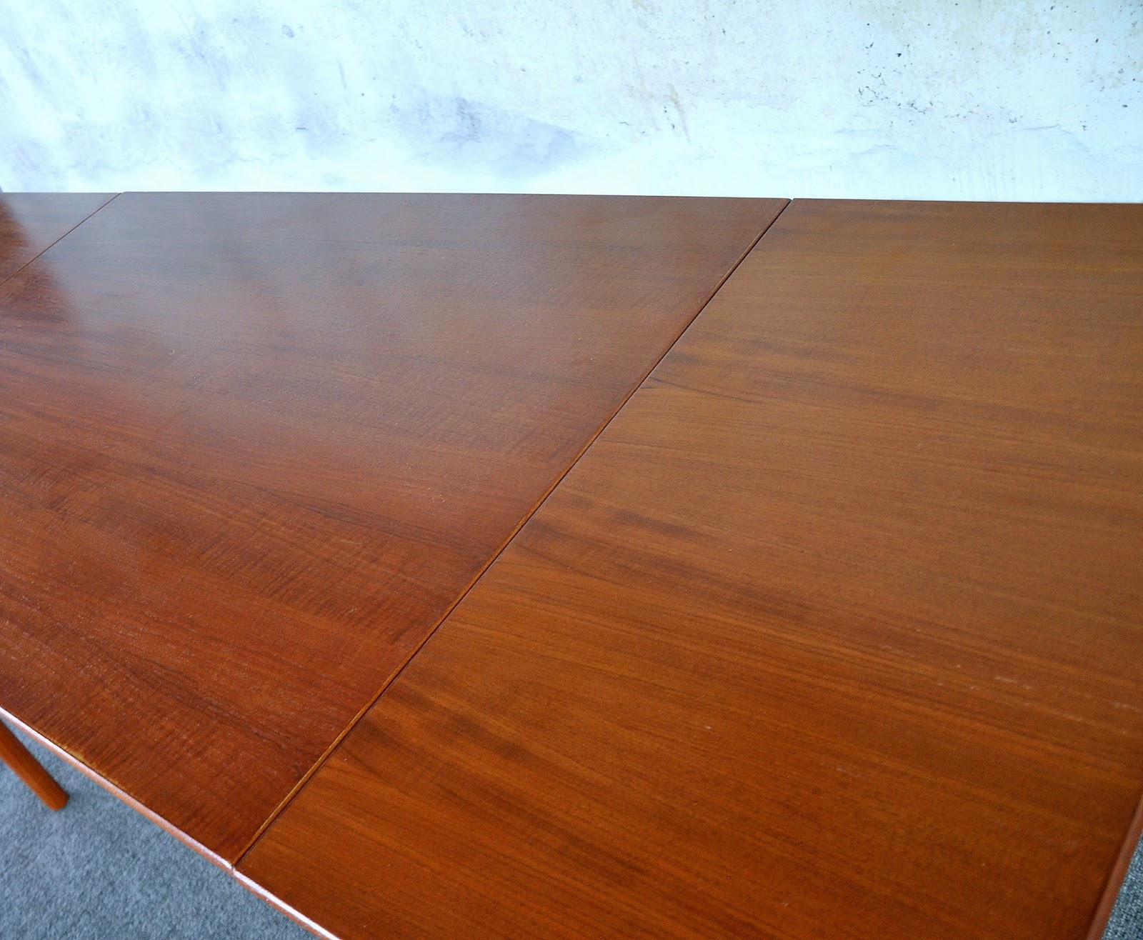 Danish Modern Teak Expandable Dining Room Table