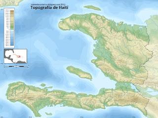 Mapa topográfico de Haití
