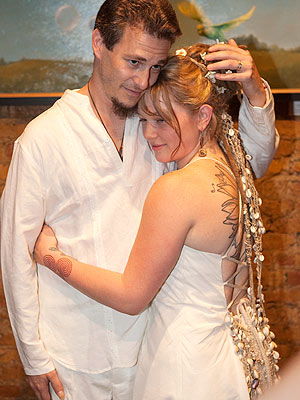 red carpet wedding crystal bowersox and brian walker