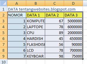 Cara mengcopy tabel excel agar hasil tetap