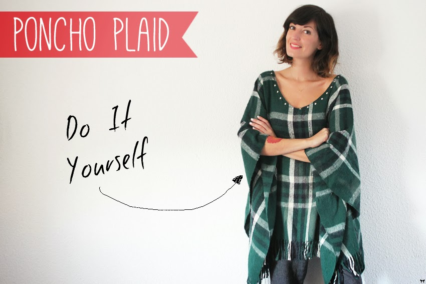 Berühmt Une touche de rose: blog mode, DIY, cuisine, beauté: Le poncho  XE46