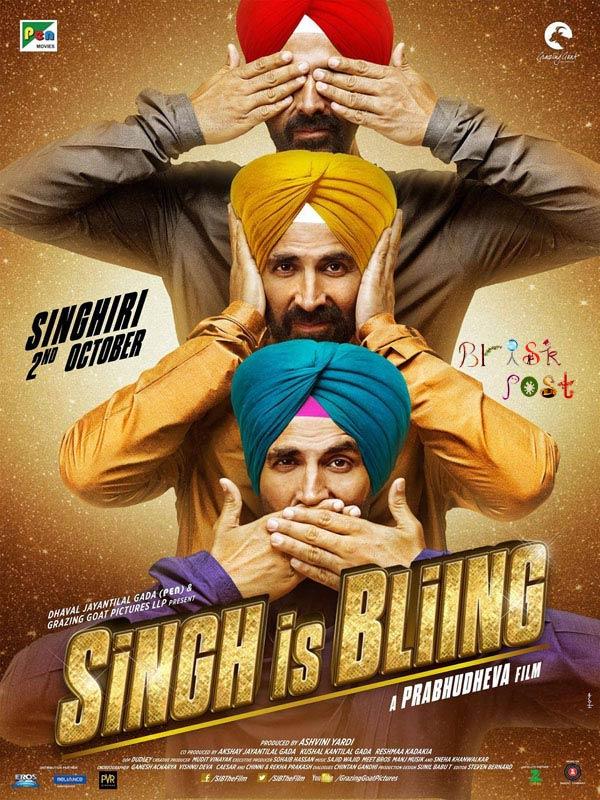 Singhgiri of Akshay Kumar in a Prabhu Deva film Singh Is Bling poster