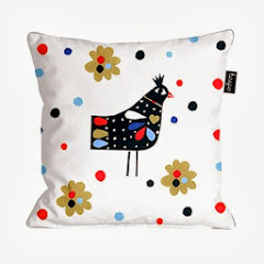 Folk Bird Cushion