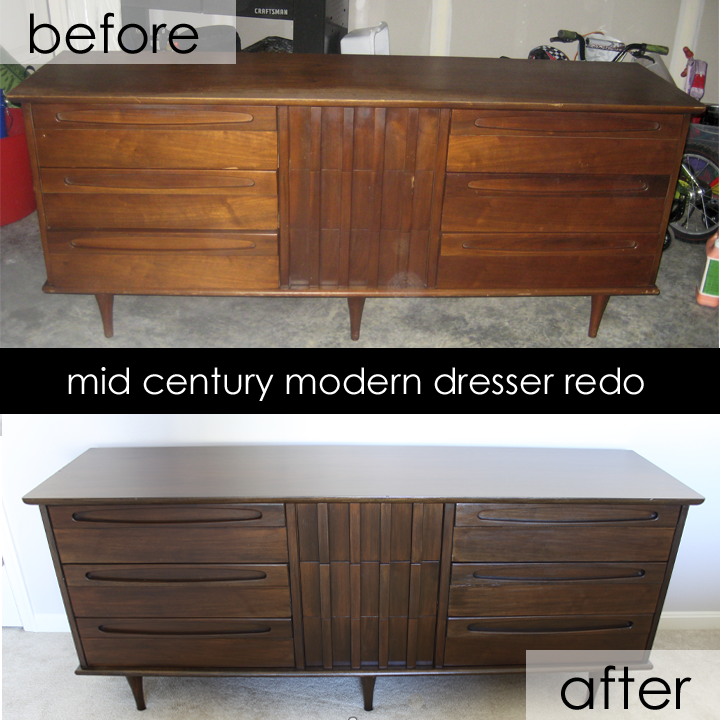 The creative imperative refinished mid century modern for Redo furniture