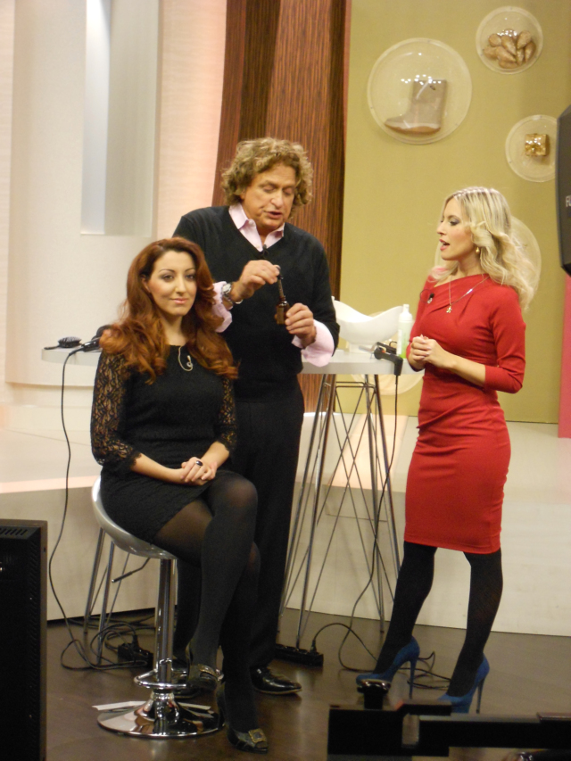QVC Italia Italy Michael diCesare hair stylist products prodotti per capelli diretta tv live Veronique Tres Jolie Cristina Dragano