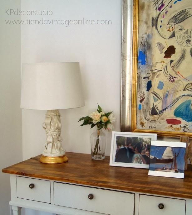 Comprar lámpara manises blanca. Lámparas de lujo para decoradores e interioristas.