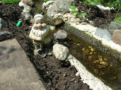 Tuin kippen visvrienden enzo stuwdammetje for Betonnen vijver aanleggen